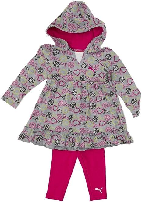 Puma para túnica Chándal para bebé niña Outfit túnica con capucha ...