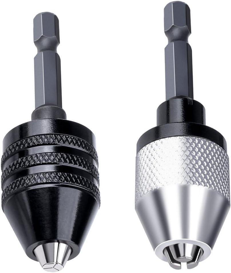 "Mini Cordless Drill Bit Chuck Connector 1//4/"" Hex Shank For Cordless Screwdriver"