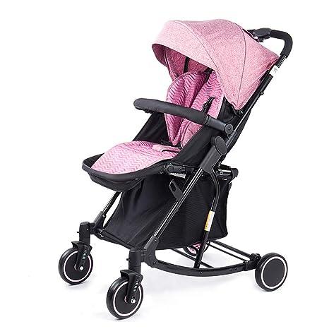 WYNZYYESTC Carro Plegable Para Bebés, Cochecito Plegable De Cuatro Ruedas Con Ruedas De Múltiples Funciones