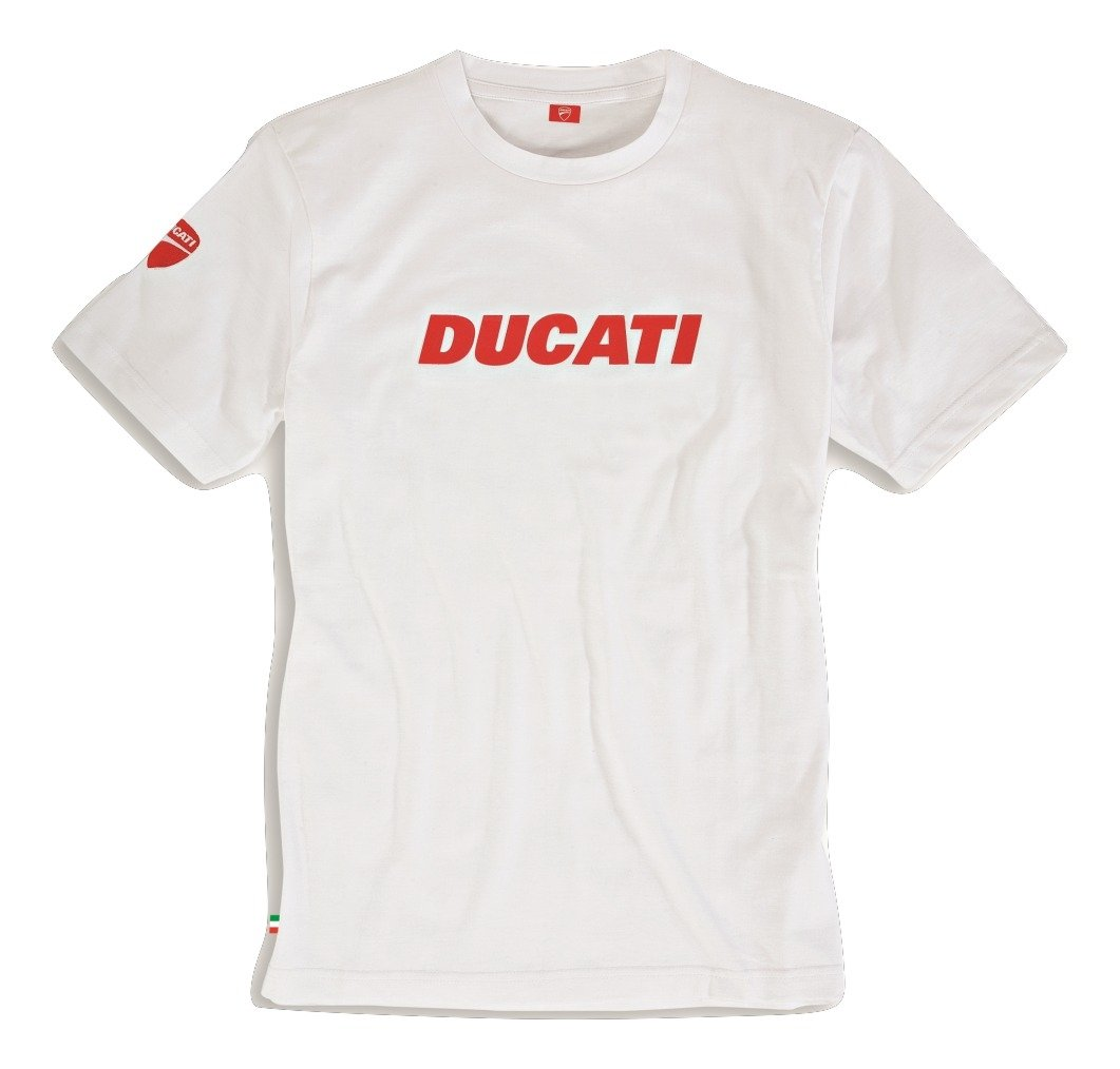 Ducati Ducatiana Basic Graphic Short Sleeve T-Shirt (XXL, White) by Ducati
