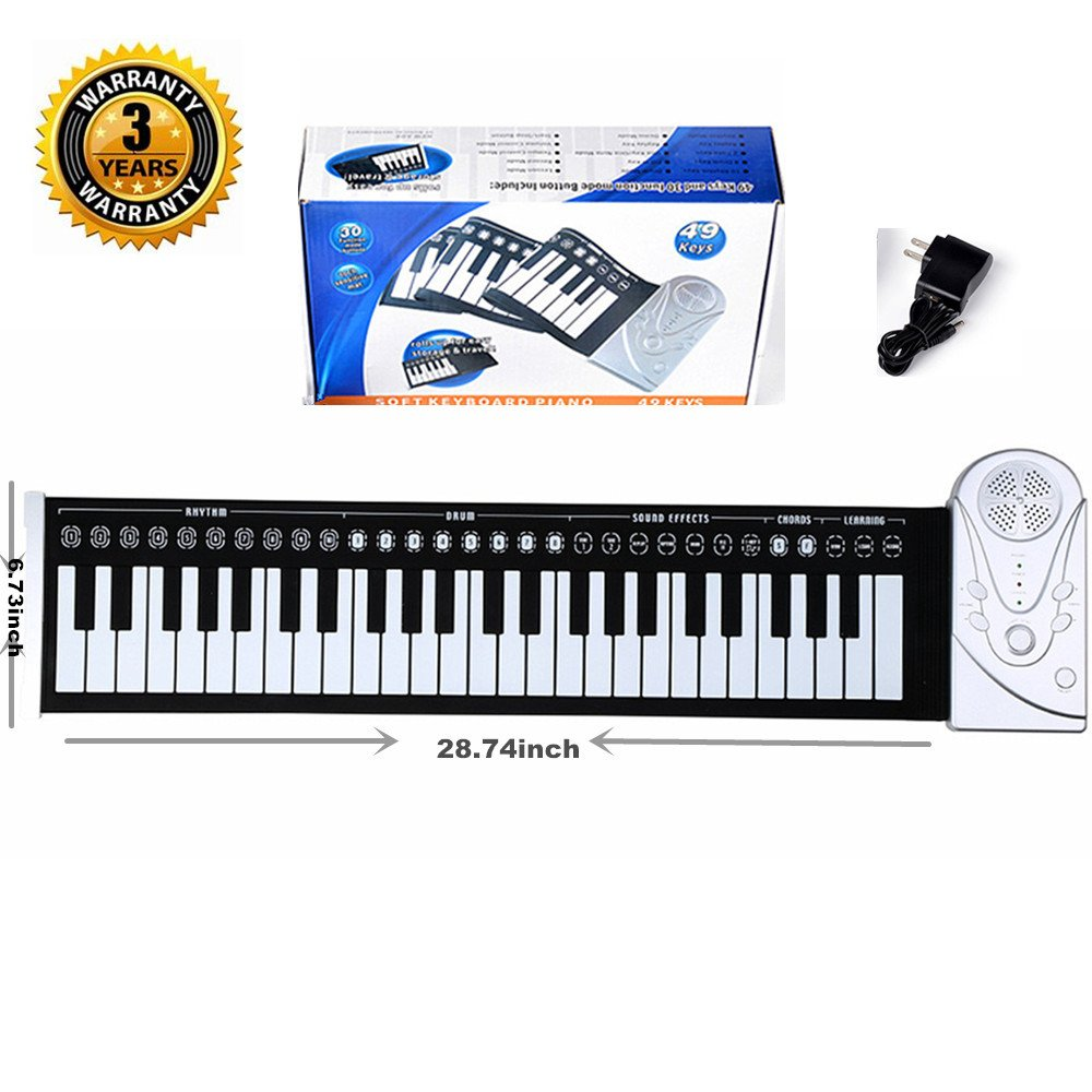 61 Key Keyboard Piano For Kids ,Children Portable Electric Organ ,Music Electronic Keyboards Piano Educational Toy For Boy Girls, Melody 61 Beginner keyboard Bundle w/ adaptor Microphone (BLACK-1) givision 10766815