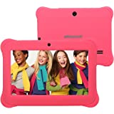 "Alldaymall 7"" Android Kids Tablet With Wifi and Camera 1GB + 8GB Quad Core, HD Kids Edition w/ iWawa Pre-Installed Bundle, With Pink Silicone Case"