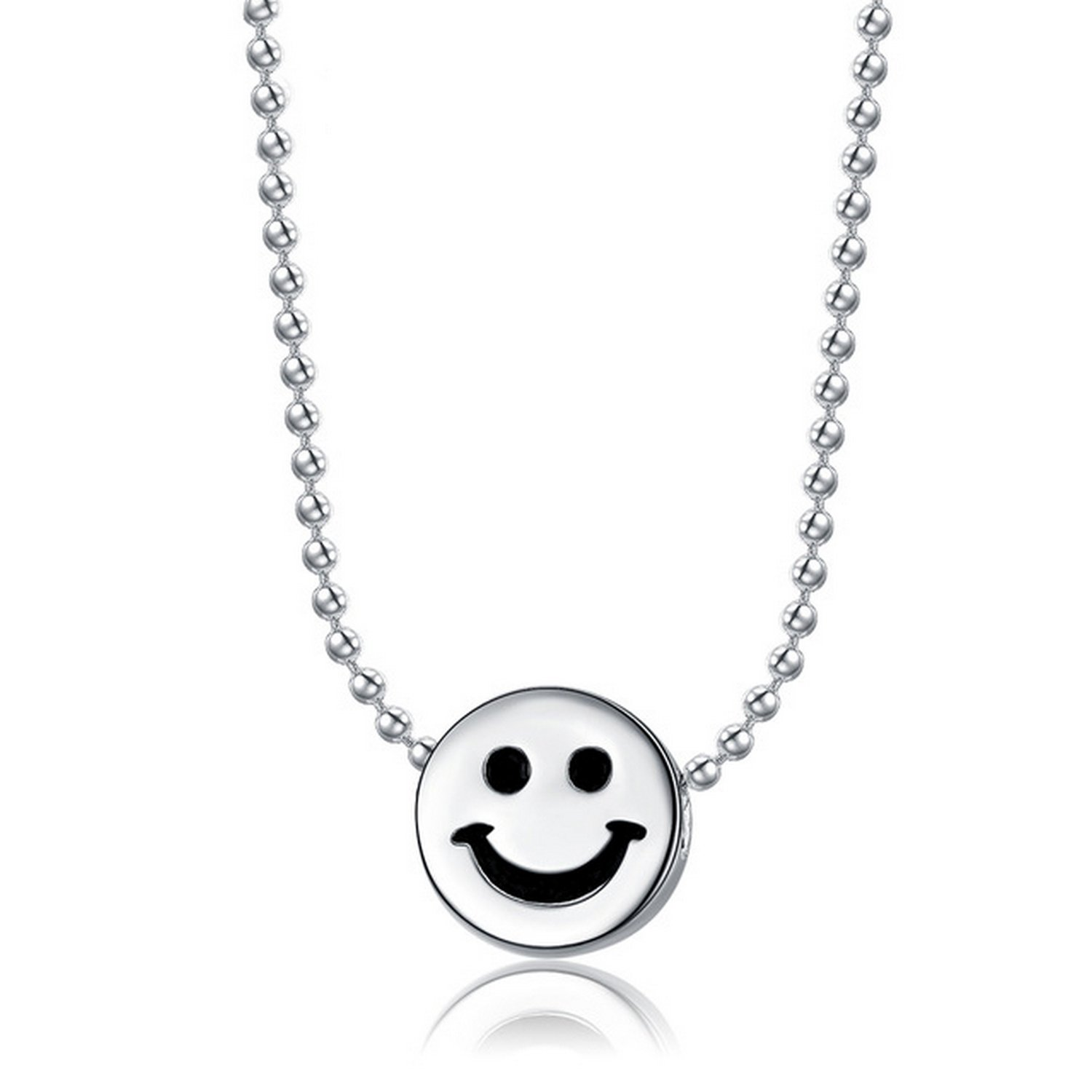 CS-DB Pendants Beaded Ball Silver Necklaces