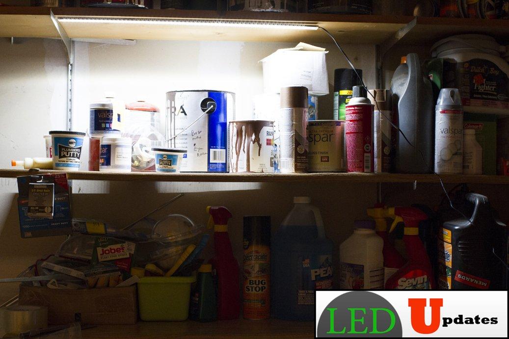 LEDupdates 24 inches Under Cabinet LED light for work shop & closet with UL Power adapter by LEDUPDATES (Image #8)