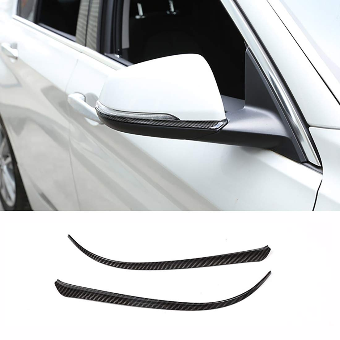 Carbon Fiber ABS Side Rearview Mirror Strips Trim For X2 F47 2018,For X1 F48 1 2 series Active Tourer f45 f46 218i 16-19 carwest