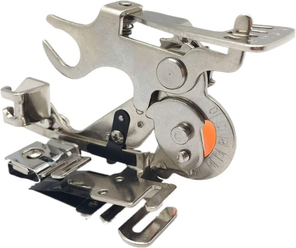 WeFoonLo 1 pcs Ruffler Sewing Machine Attachment Presser Foot for Low-Shank Brother, Singer, Babylock, New Home, Kenmore,Janome,White, Juki, Simplicity Sewing Machines