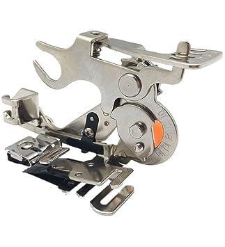 Wefond 1 pieza Ruffler Máquina de coser Accesorio Prensatelas para hermano de vástago bajo, Cantante, Babylock, Casa nueva, Kenmore, Janome, Blanco, ...