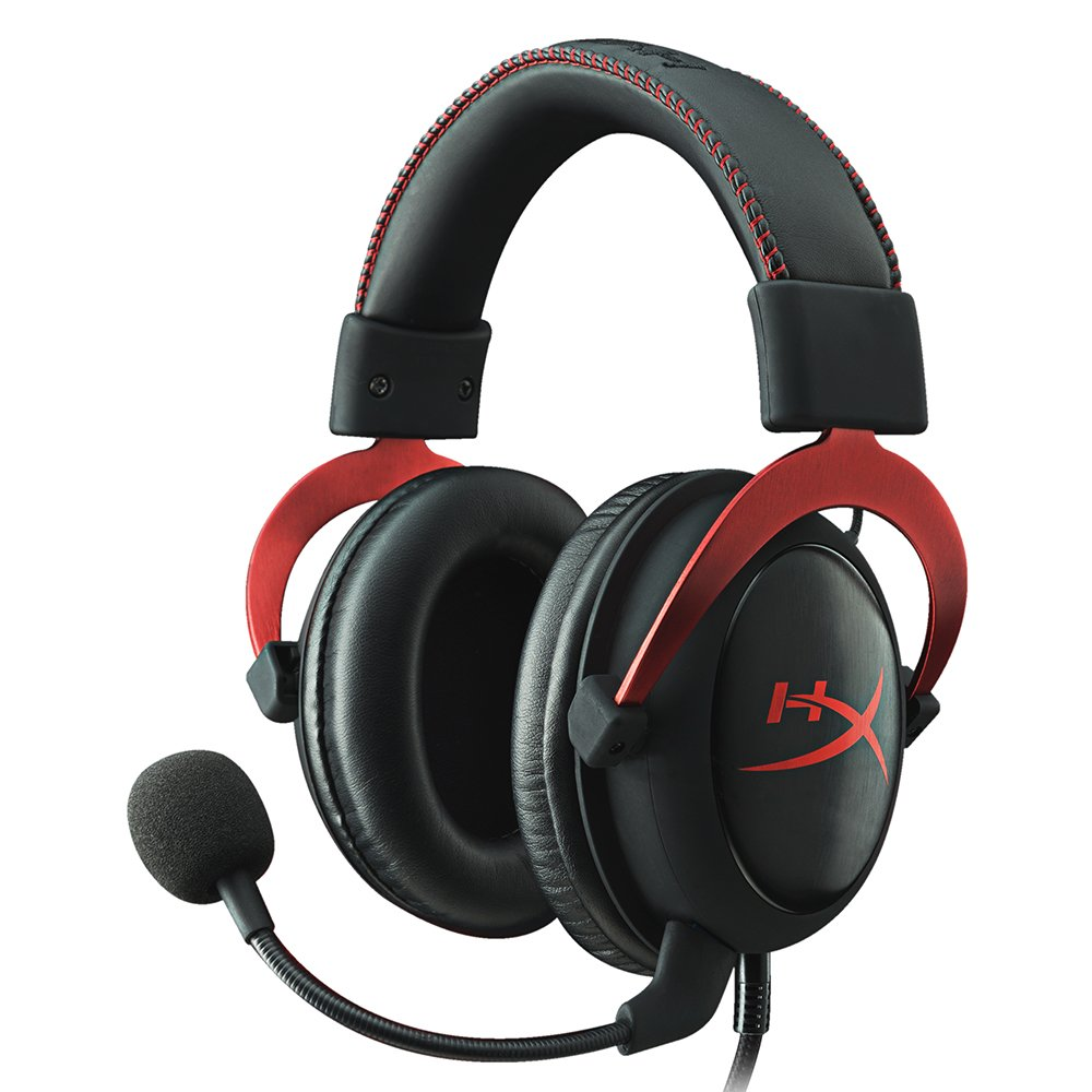 HyperX Cloud II Gaming Headset - 7.1 Surround Sound - Memory Foam Ear Pads - Durable Aluminum Frame - Multi Platform Headset - Works with PC, PS4, PS4 PRO, Xbox One, Xbox One S - Red (KHX-HSCP-RD) by HyperX
