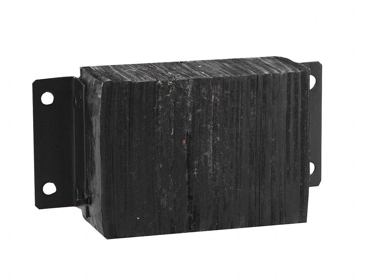 Rectangular Laminated Rubber Dock Bumper, 10''H x 20''W x 6''D