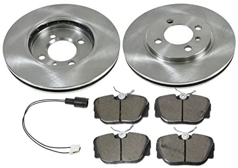 Juego de disco de cerámica Pastillas de Freno y de rotores W/Kit de sensores