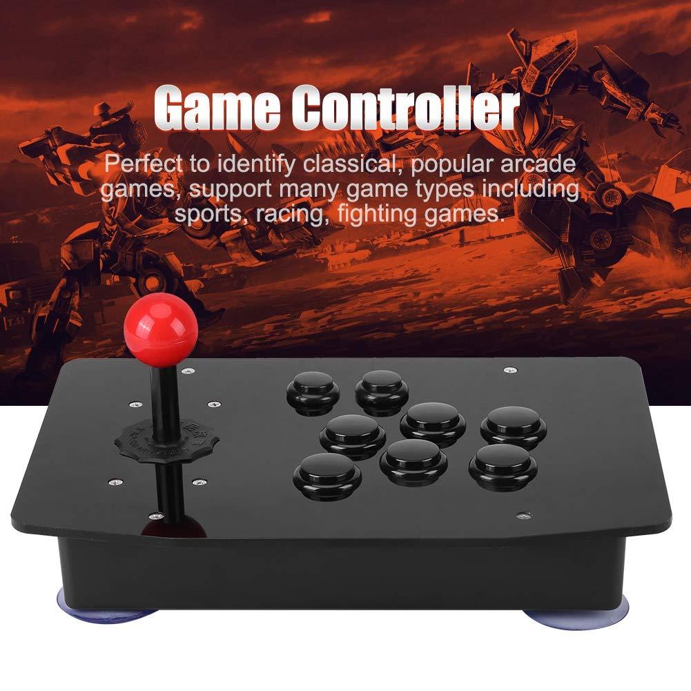 Kafuty Controlador de Juego Joystick Juego cl/ásico Mango USB Joystick de 8 direcciones Botones de retardo Cero para computadora PC Arcade