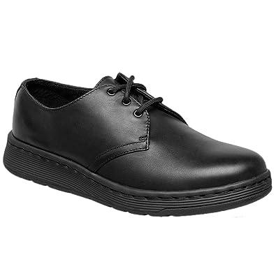 Dr.Martens Kids Cavendish BTS 3 Eyelet Black Leather Shoes