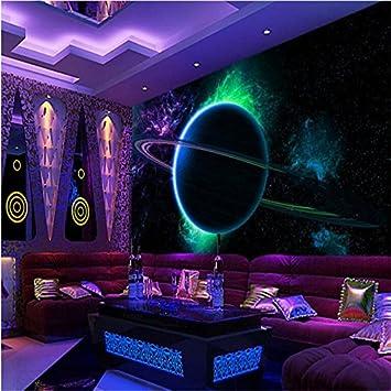 Bzdhwwh Große Benutzerdefinierte Wallpaper 3d Cool Leuchtende Kugel