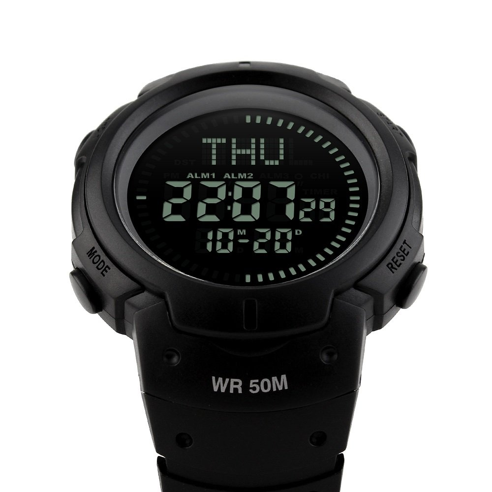 Men's Watches Discreet Skmei Brand Compass Men Sports Watches 50m Waterproof Digital Outdoor Military Watch Men Countdown Alarm Led Wristwatches A Great Variety Of Models Watches
