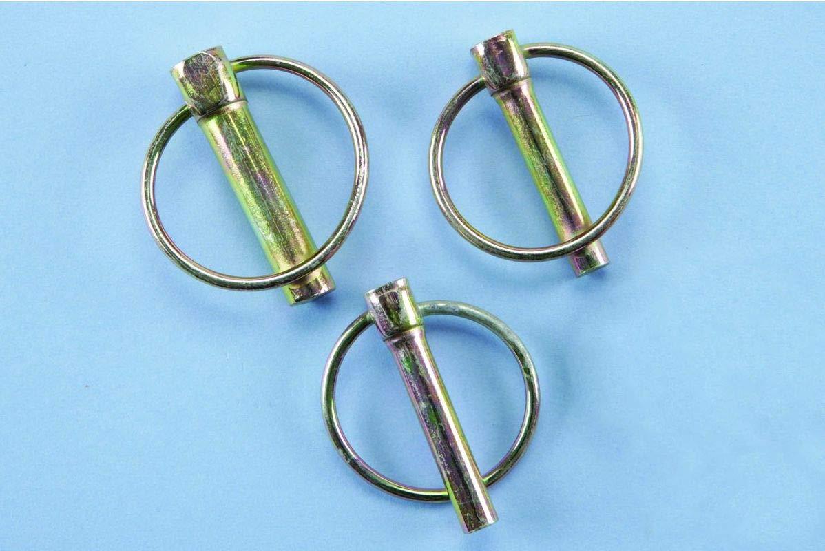 Premium Lynch Pin Fastener Assortment Kit - 50 Piece Set With Plastic Case by Ruddman Supplies