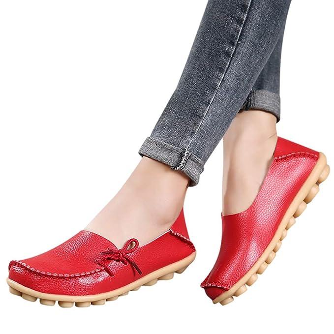 JiaMeng Zapatos Casuales Suaves de la Madre Zapatos Nupciales con Lazo de la Enfermera Zapatos de conducción Ocasionales Zapatillas Mujer Flip Flop Sneakers ...