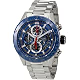 Tag Heuer Carrera Skeleton Dial Automatic Mens Chronograph Watch CAR201T.BA0766