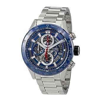 TAG Heuer Reloj de Hombre automático 43mm Correa de Acero CAR201T.BA0766: Amazon.es: Relojes