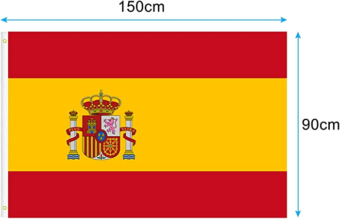 YingYi Bandera de España, Bandera España 150 * 90 cm: Amazon.es: Jardín