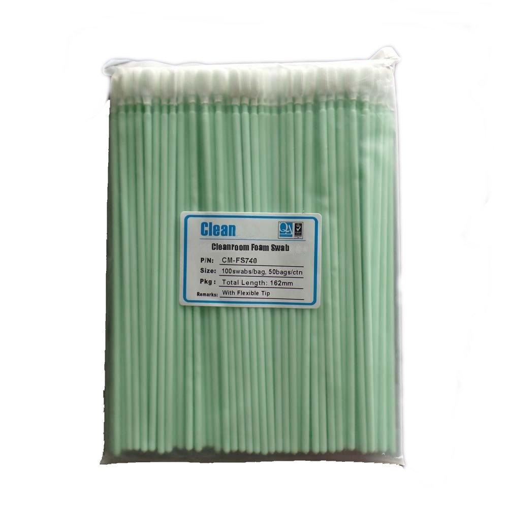 "KJHome 100psc 6.38"" Foam Cleaning Swabs for Inkjet Printer, Printhead, Camera, Cleanroom, Optical Lens, Gun, Automotive Detailing, Optical Equipment"