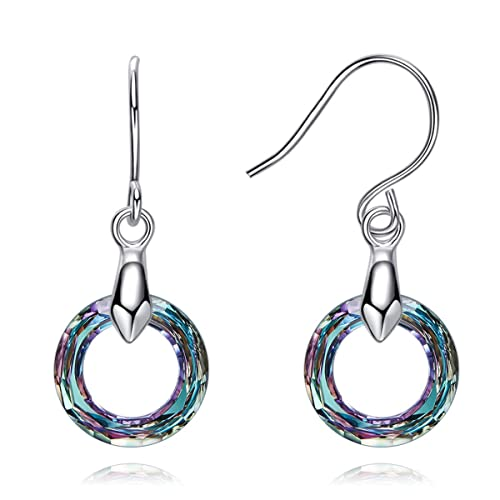 7f543b918 SNOWH Womens Earrings Sterling Silver Hypoallergenic Dangle Earrings Round  Hoop Earring Jewelry Multicolor Perfect Christmas Gifts: Amazon.ca: Jewelry