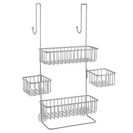 Amazon.com: InterDesign Metalo Adjustable Over Door Shower Caddy ...