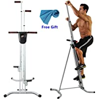 Apelila Vertical Climber, Climbing Machine - Total Body Workout Fitness Folding Cardio Climber Exercise Machine,with LCD Monitor for Home Gym Fitness