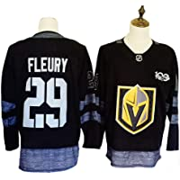 Yajun Marc-Andre Fleury#29 Vegas Golden Knights Camisetas Hockey Jersey sobre Hielo NHL Hombre Ropa Respirable T-Shirt de Manga Larga