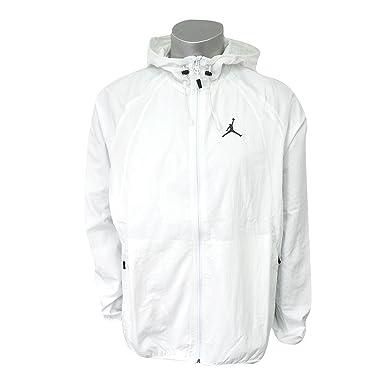 7faa01deeac606 Nike Men s Jordan Sportswear Wings Windbreaker Jacket Summit White Black  (Medium)