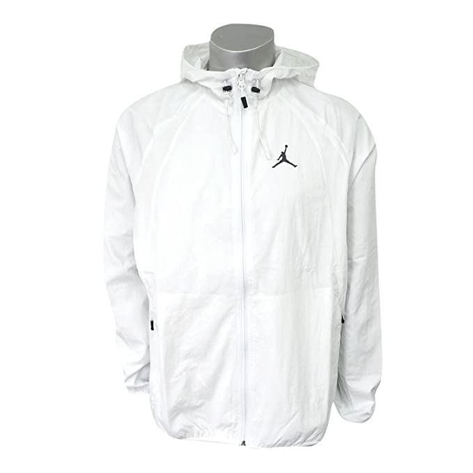 4d8321ebd346 NIKE Men s Jordan Sportswear Wings Windbreaker Jacket Summit White Black  (Small)