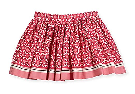 6c6d6c6fc Kate Spade New York Girl's Floral‑Print Pleated Cotton Skirt (7 Years)