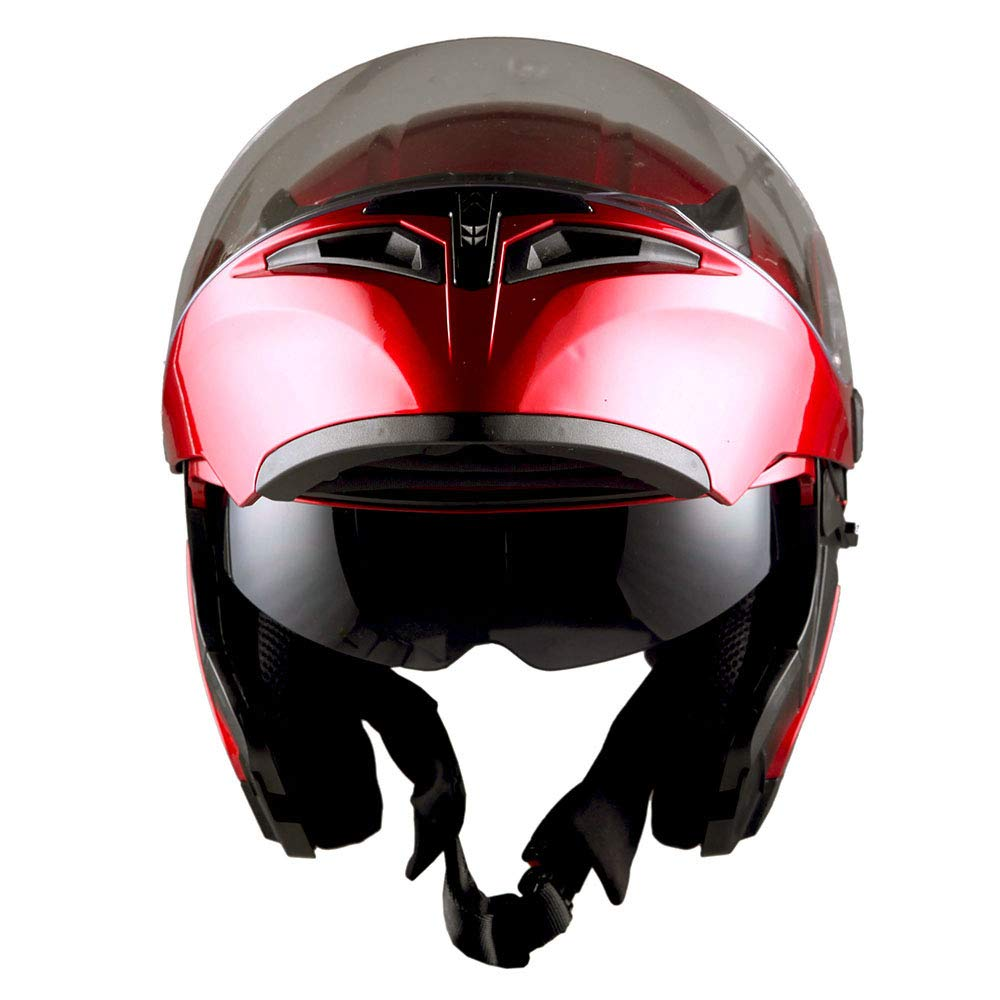 1ea63ac7 1storm Motorcycle Modular Full Face Helmet Flip Up Dual Visor Sun Shield