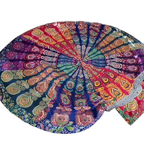 Price comparison product image Hatop Round Hippie Tapestry Beach Throw Mandala Towel Yoga Mat Bohemian