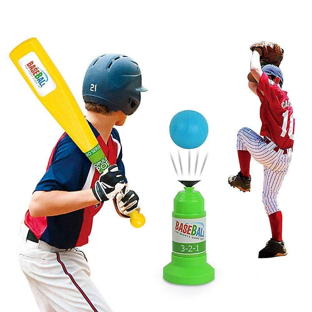 Vjoy Kids Baseball Trainer Practice, Automatic Adjustable Launcher Baseball Educational Leisure Physical Training Team Sports Toys For Fun Family Home&Outdoor Game Toys