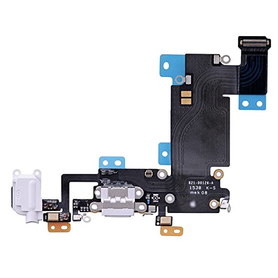 official photos 19c2a 00289 LUVSS New Dock Connector Charger Flex Replacement for iPhone 6S Plus 5.5  Inches USB Port Charging Flex Cable with Mic, Headphone Audio Jack Assembly  ...