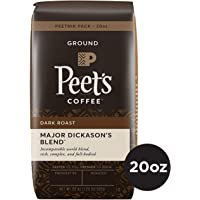 Peet's Coffee Major Dickason's Blend Dark Roast Ground Coffee, 20 Ounce Bag Peetnik Value Pack