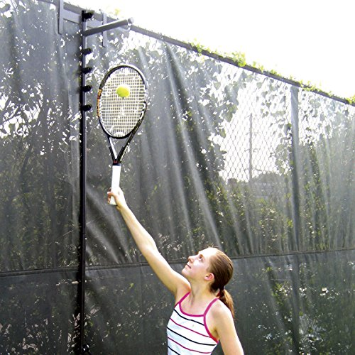 Fence Trainer - Oncourt Offcourt Tennis Fence Trainer - Improve Your Serve Consistency/Works On Any Tennis Court