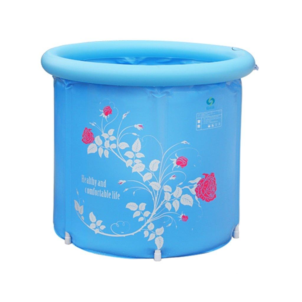 AJZGF Aufblasbare Falt-Badewanne, Multi-Größe-Doppel Tragbare Badewanne Blaue Badewanne Badewanne (Farbe   1, Größe   L)