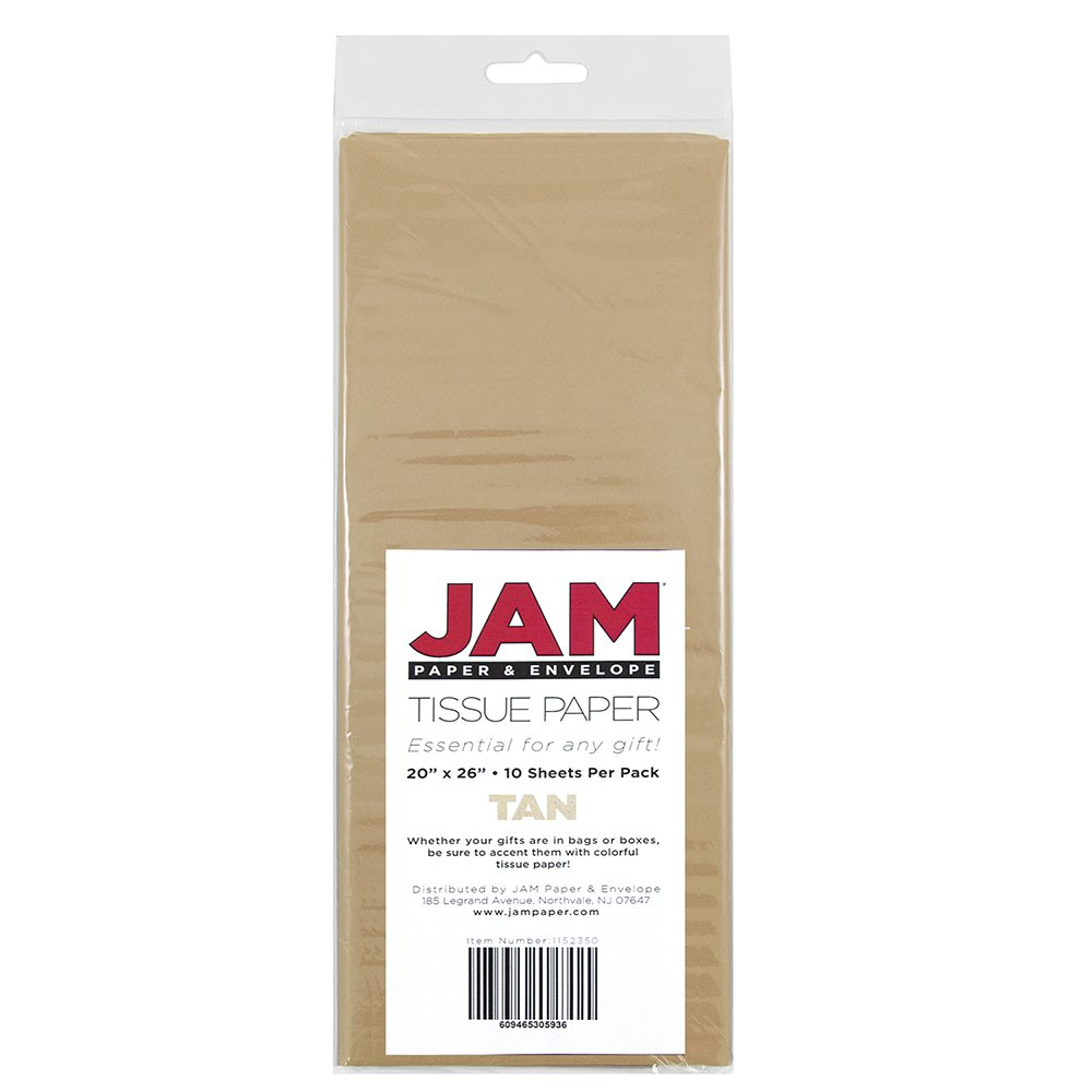 JAM PAPER Tissue Paper - Tan - 10 Sheets/Pack by JAM Paper (Image #3)