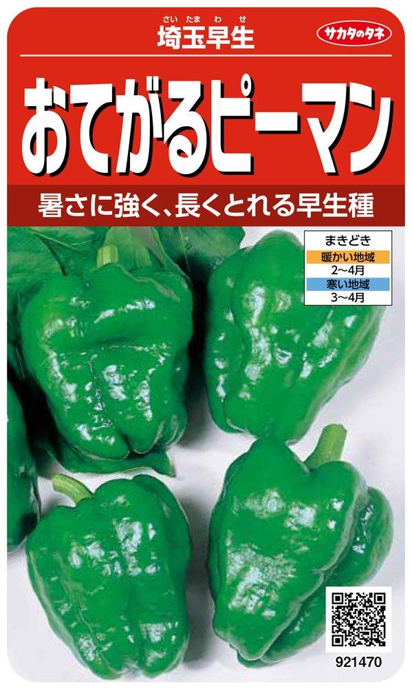 サカタのタネ 実咲野菜1470 おてがるピーマン 埼玉早生 00921470 10袋セット