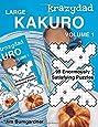 Krazydad Large Kakuro Volume 1: 99 Enormously Satisfying Puzzles