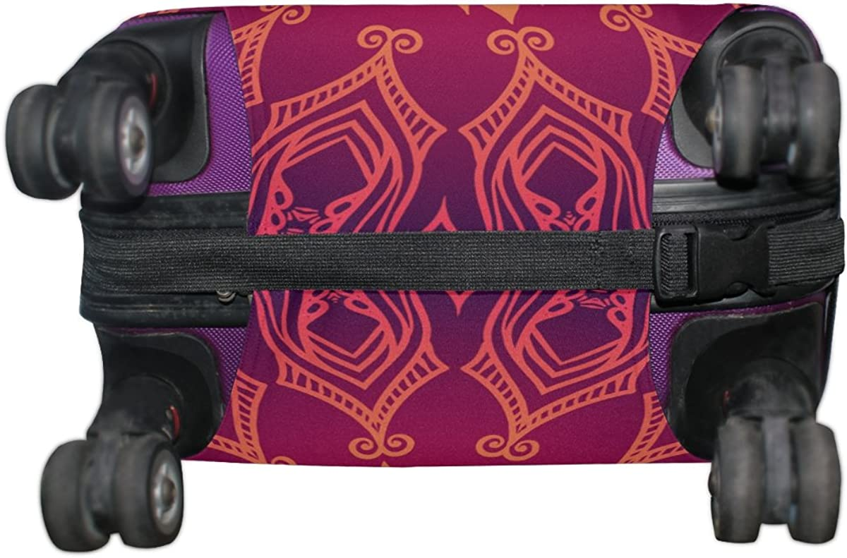 GIOVANIOR Purple Lace Floral Luggage Cover Suitcase Protector Carry On Covers