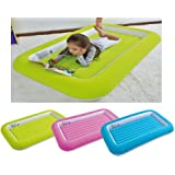 Kid's Children's Inflatable Safety Flocked Kiddy Airbed Toddlers Camping Air Beds Soft Comfortable Fun Colourful Guest Sleepover