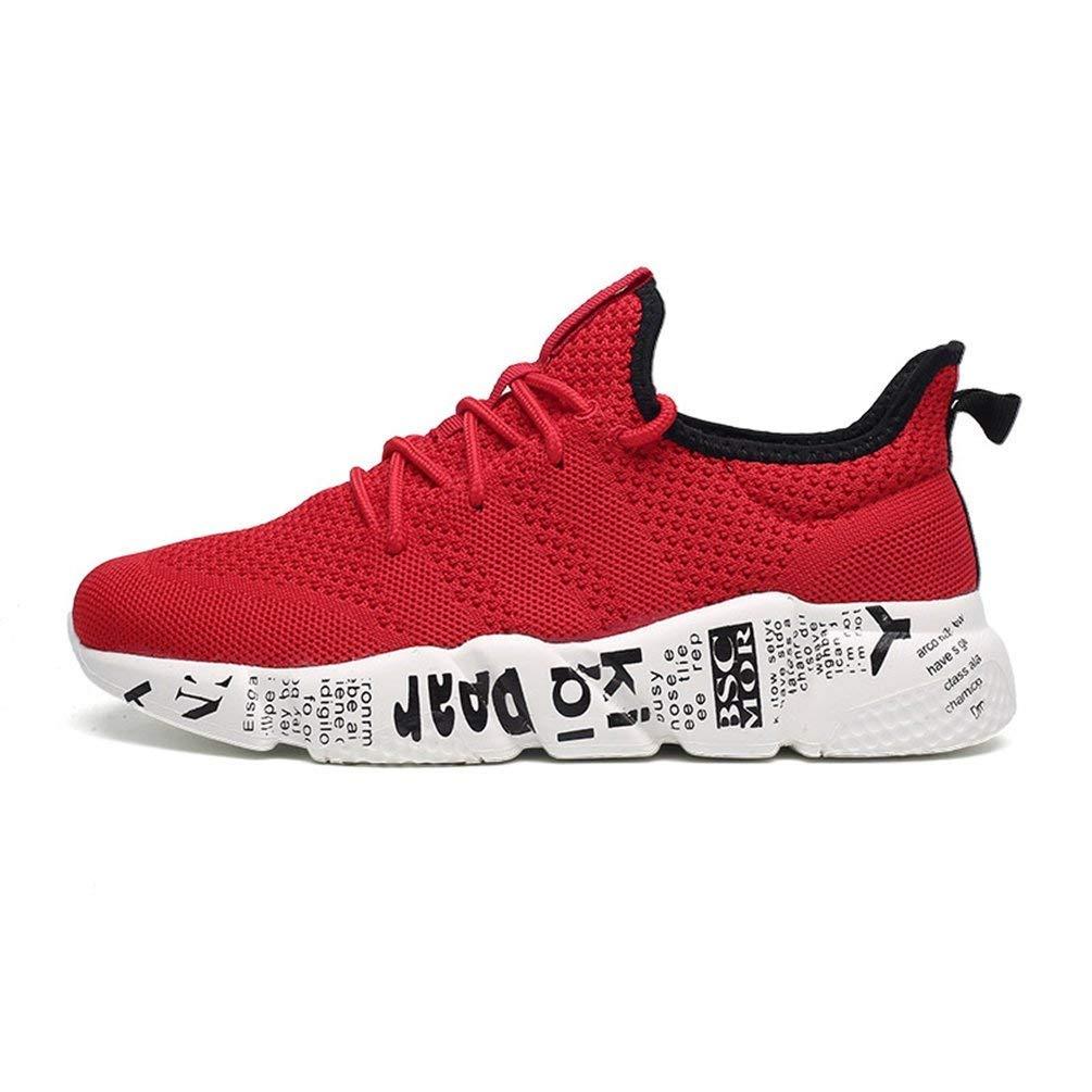 ZHRUI Männer Sportschuhe Sommer Laufschuhe Mix Farbe Turnschuhe Atmungsaktives Mesh Outdoor Athletic Jogging Schuhe (Farbe   Rot, Größe   6.5UK=40EU)