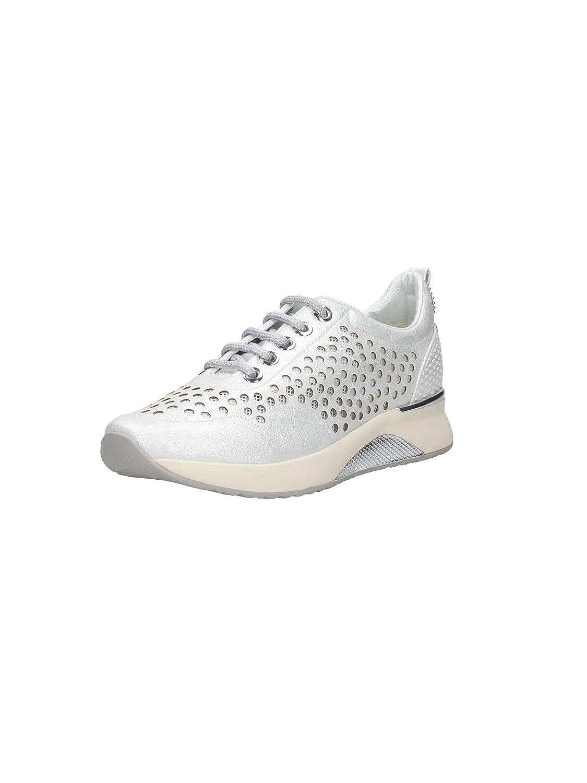 CAFèNOIR DA910 Platino Scarpa Donna Sneakers Forato 39|Argento