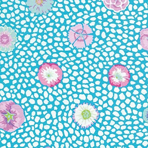 FreeSpirit Fabrics Free Spirit EP-501 Kaffe Fassett Guinea Flower Fabric by The Yard, Turquoise,