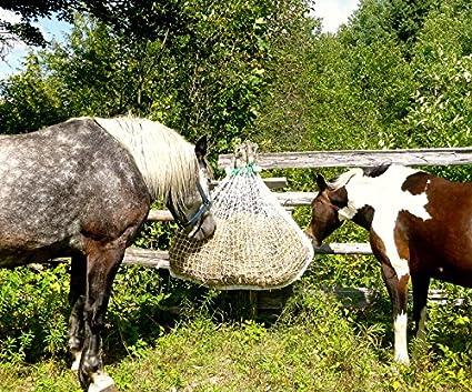 Slow Bale Buddy Slow Feeder Size MINI Feed Hay Horses Equine Mesh Net