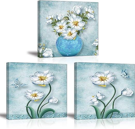 Leinwandbild Canvas Wandbild Fotoleinwand Pflanzen Blumen schöne weiße Orchideen