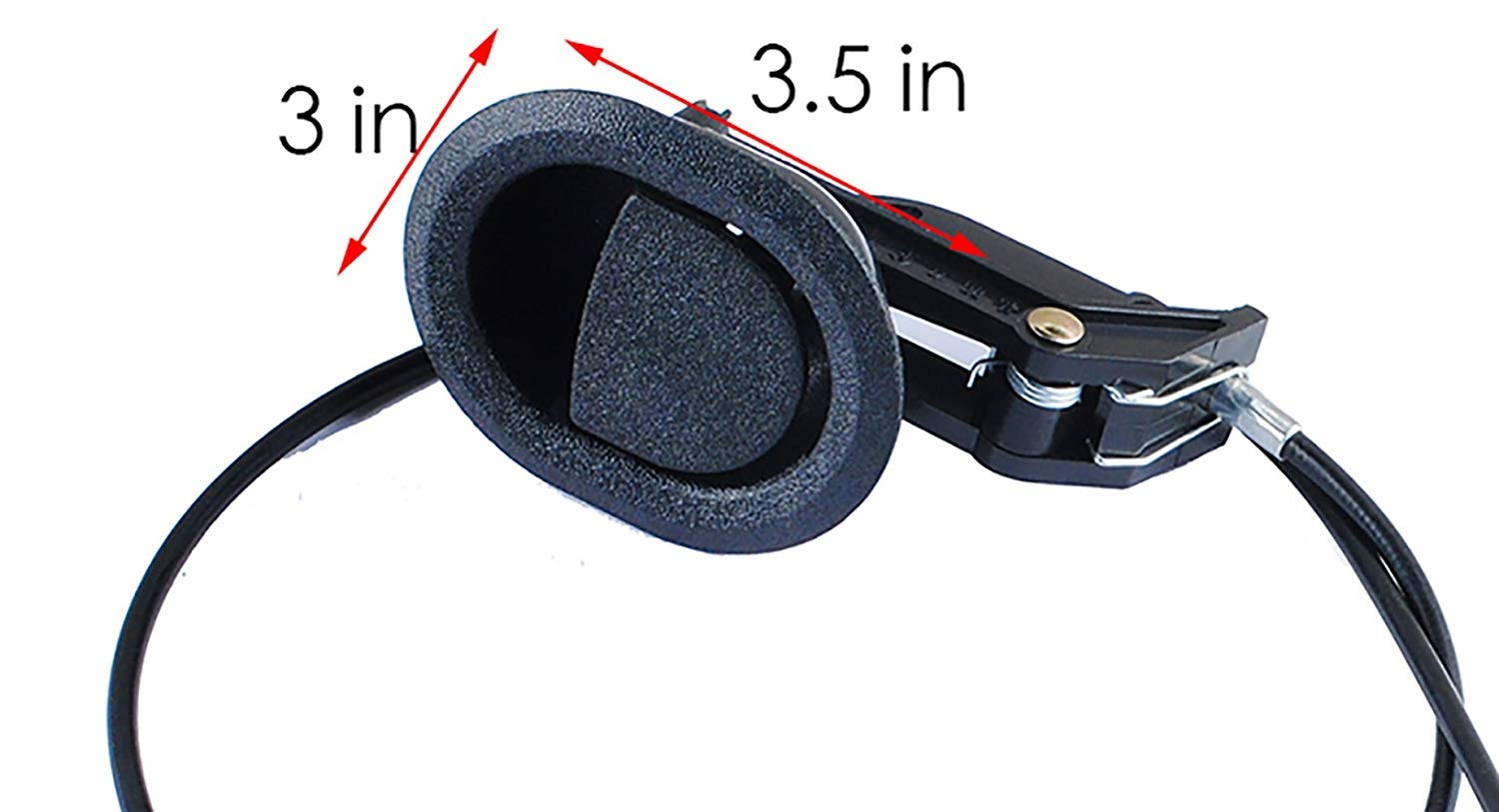 """ProFurnitureParts RECLINER RELEASE CABLE D-RING STYLE EXPOSED LENGTH 4.75/"""" 2 PK"""