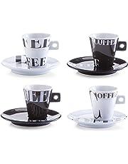 Zeller 26540 Servicio de Café Expreso, Porcelana, 27.5x14x7 cm, 8 Unidades